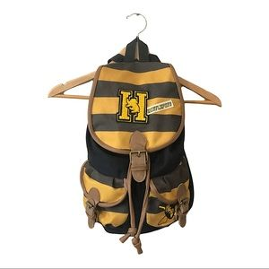 Harry Potter Backpack Hufflepuff Varsity Stripes With Patches